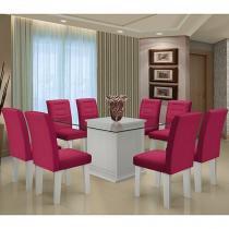 Conjunto de Mesa com 8 Cadeiras - Dobuê Movelaria Vegas