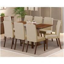 Conjunto de Mesa com 8 Cadeiras Madesa - Carmine