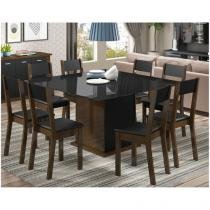 Conjunto de Mesa com 8 Cadeiras Madesa - Dublin