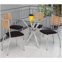 Conjunto de Mesa e 4 Cadeiras CJ150161 - Alegro -