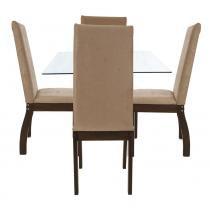Conjunto de Mesa e Cadeiras Slim - Viero Móveis