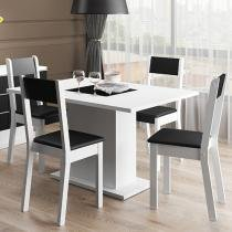 Conjunto de Mesa Madeira 4 Cadeiras Madesa - Giovana