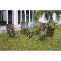 Conjunto de Mesa para Jardim/Área Externa - 4 Cadeiras Alegro Móveis CJMB400315