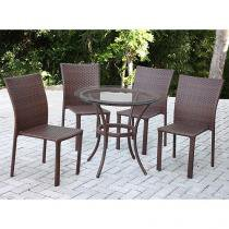 Conjunto de Mesa para Jardim/Área Externa Alumínio - com 4 Cadeiras Alegro Móveis CJM501402