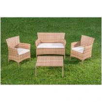 Conjunto de Mesa para Jardim/Área Externa - com 3 Cadeiras Estofadas Alegro Móveis CJA00012