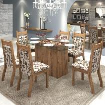 Conjunto De Mesa Para Sala De Jantar Cancun Com 6 Cadeiras Jady Ebano/Brownie - At House