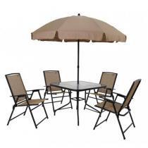Conjunto de Mesa Quadrada para Jardim Acapulco com - 4 Cadeiras - MOR
