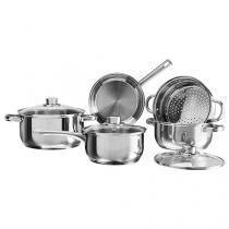 Conjunto de Panelas Brinox Silver 4807/100 - 5 Peças Fundo Triplo
