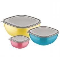 Conjunto De Potes 3 Peças Mixcolor 25099953 Tramontina -