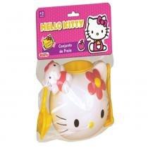 Conjunto de Praia Balde Hello Kitty - 5 Peças - Rosita