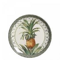 Conjunto de pratos de sobremesa 6 pecas pineapple green porto brasil - Porto brasil