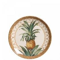 Conjunto de pratos de sobremesa 6 pecas pineapple natural porto brasil - Porto brasil