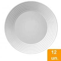 Conjunto de Pratos Raso de Vidro 12 peças Opaline Saturno - Duralex -
