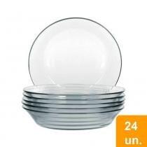 Conjunto de Pratos Sopa de Vidro 24 peças Astral - Marinex - Duralex/marinex