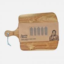 Conjunto de Tábua em Madeira e 5 Pegadores para Queijo JAMIE OLIVER - Jamie Oliver