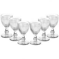Conjunto de Taças para Vinho 6 Peças - Bon Gourmet Glass Line Leda 6745