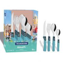 Conjunto de Talheres Amalfi 16 Peças Aço Inox 23499171 - Tramontina - Tramontina