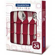 Conjunto de Talheres Malibu 24 Peças Aço Inox 23799043 - Tramontina - Tramontina