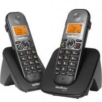 Conjunto de Telefone Base + 1 Ramal Preto TS 5122 - Intelbras - Intelbras