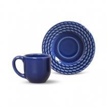 Conjunto de xícaras de cafe 6 pecas olimpia azul navy 75ml porto brasil -