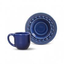 Conjunto de xícaras de cafe 6 pecas parthenon azul navy porto brasil -