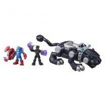 Conjunto Deluxe Adventure Pack - Marvel - Pantera Negra com Garras - Hasbro -