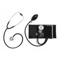 Conjunto Esfigmomanômetro com Estetoscópio P.A.Med CJPA209 - Preto -