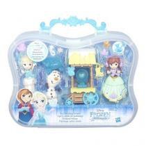 Conjunto frozen mini cenario acessorios de inverno hasbro b5191 11456 - Hasbro