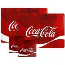 Conjunto Jogo Americano E Porta Copos Coca Cola 4pc Wave Urban Brasil -
