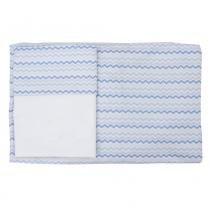 Conjunto Lençol de Mini Berço C/elástico 2 pças 100 Algodão Chevronzinho Azul - Abra cadabra