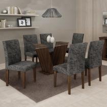 Conjunto Mesa Classic 160x80 cm c/ 6 Cadeiras Classic   - Cel Móveis - Cel movéis