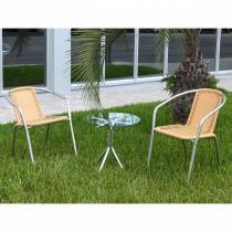 Conjunto Mesa de Centro + 2 Cadeiras CJMC12099 - Alegro -