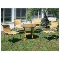 Conjunto Mesa e 4 Cadeiras CJM502151 - Alegro -