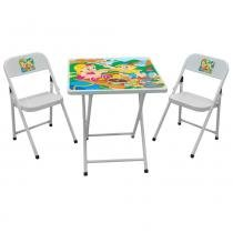 Conjunto Mesa e Cadeiras Ferro Dobrável Infantil Piquenique Sapeca - Metalmix