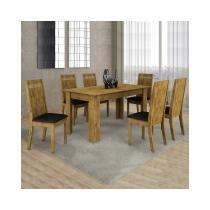 Conjunto Mesa Ouro Preto 160x80cm c/ 6 Cadeiras Ouro Preto  - Cel Móveis - Cel movéis