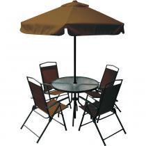 Conjunto Miami para Jardim Café 85200 - Belfix - Marrom - Belfix