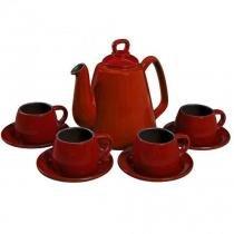 Conjunto Para Café Tropeiro 9 Pcs - Pomodoro - Ceraflame -