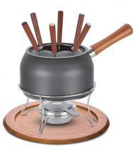 Conjunto para fondue antiaderente e cabo tramontina - preto / 19 cm / 2.5 lt -