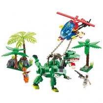 Conjunto para Montar 289 Peças Xalingo - Dino Saga Captura Rex