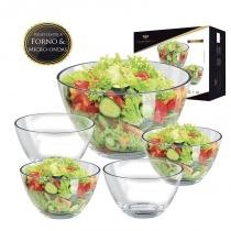 Conjunto para saladas Reggio 5 peças - Ruvulo - Ruvolo