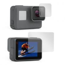 Conjunto Películas ABS Para Lente Tela Lcd GoPro Hero 5 Black e Hero 6 Black - Shoot