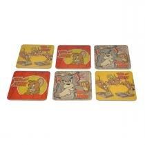 Conjunto Porta Copos 6 peças MDF Tom and Jerry 75028540 - Urban