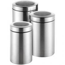 Conjunto Pote Inox 3 Peças com Tampa  - Hércules UM67-3P