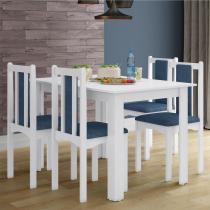 Conjunto Sala de Jantar Composto por Mesa 120 cm + 4 Cadeiras Veneza   Acabamento BP/PU - Casatema