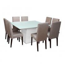 Conjunto Sala de Jantar Mesa 08 Cadeiras Elisa Preto - Ammo Mobili - Ammo Mobili