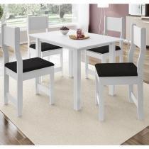 Conjunto Sala de Jantar Mesa 4 Cadeiras Dallas Indekes Branco -