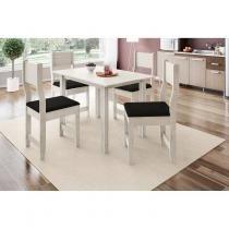 Conjunto Sala de Jantar Mesa 4 Cadeiras Dallas Indekes Salina/Preto -