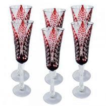 Conjunto Taças em Vidro Para Champagne 6 peças - Decorafast