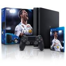 Console Playstation 4 1Tb Slim com Fifa 18 Bundle PS4 Sony -