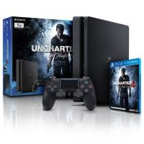 CONSOLE PLAYSTATION 4 1TB SLIM COM JOGO UNCHARTED 4 BUNDLE PS4 SONY - Sony
